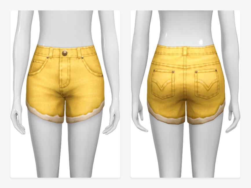 Моды джинсовые шорты Симс 4 (картинка 2)