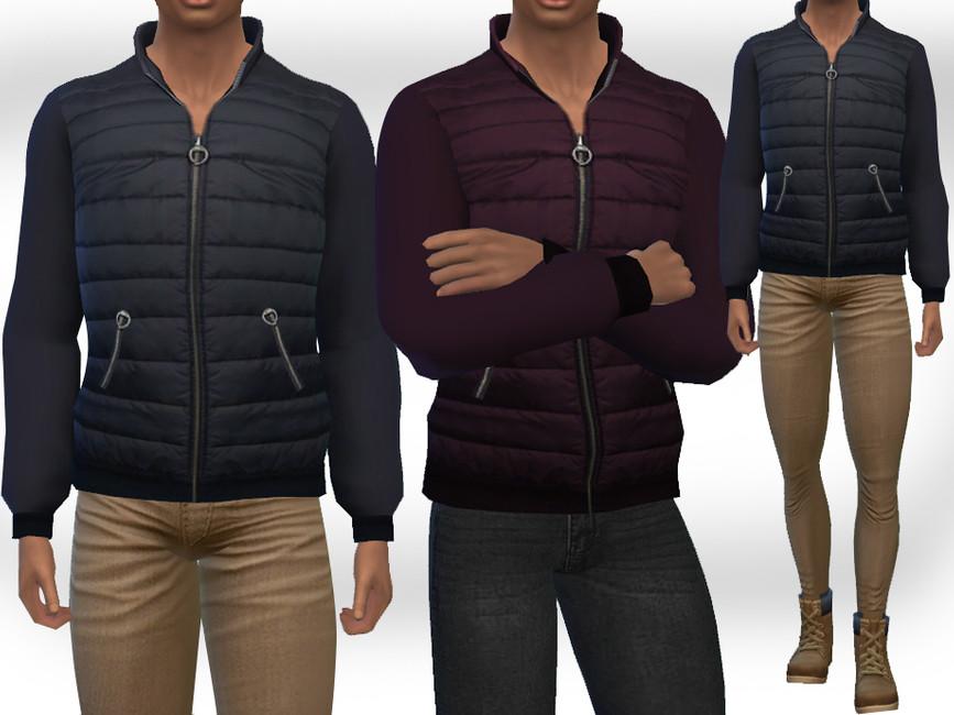 Моды мужская куртка Симс 4