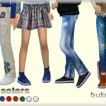 Моды обувь для детей Симс 4