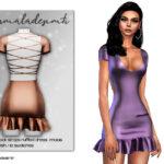 Моды одежда платья для Симс 4