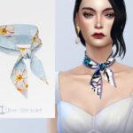 Моды шарф Симс 4