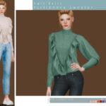 Моды свитер Симс 4