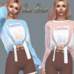 Моды женский свитер Симс 4