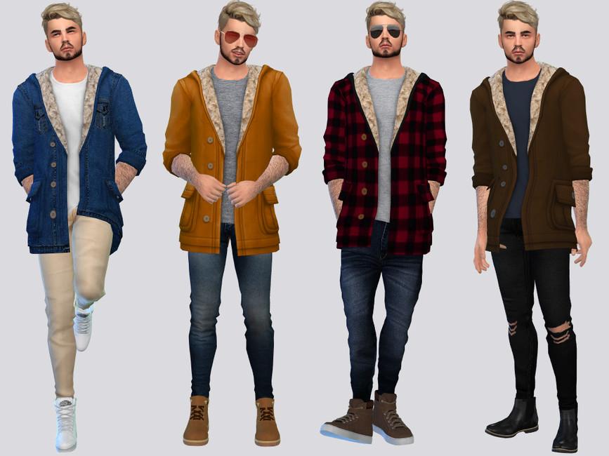 Мужская куртка Симс 4