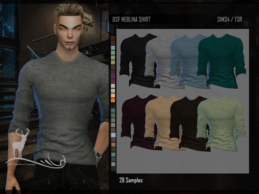 Мужская рубашка для Симс 4