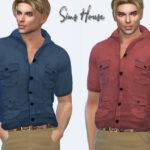 Мужская рубашка Симс 4