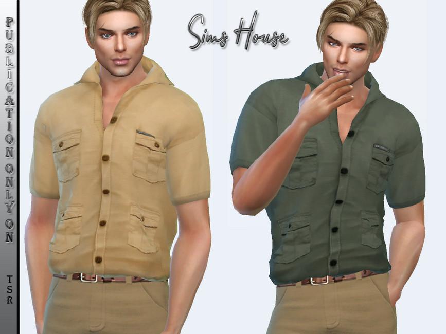 Мужская рубашка Симс 4 (картинка 2)