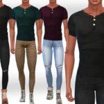 Мужские футболки для Симс 4