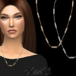 Ожерелье Diamond Bar Necklace Симс 4