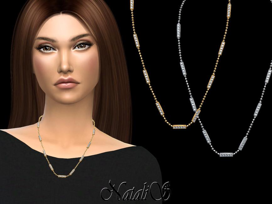 Ожерелье Diamond Bar Necklace Симс 4