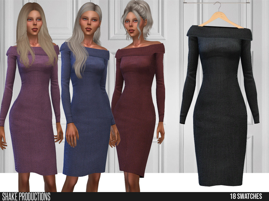 Платье 566 - Dress Симс 4