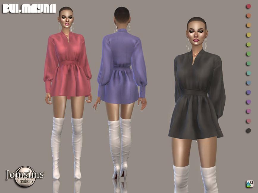 Платье Bulmayna Dress Симс 4