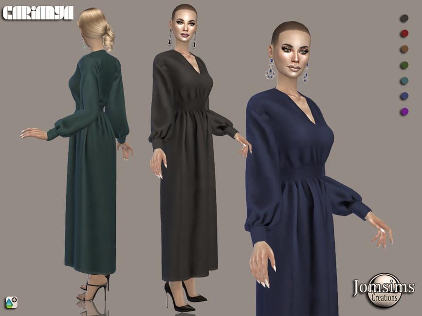 Платье Carianya Dress Симс 4
