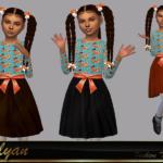 Платье для девочек Dress Polyana Симс 4