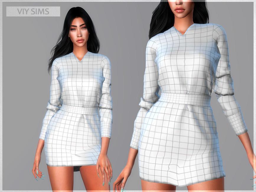 Платье Dress 30.11 - VI Симс 4