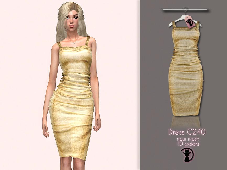 Платье Dress C240 Симс 4