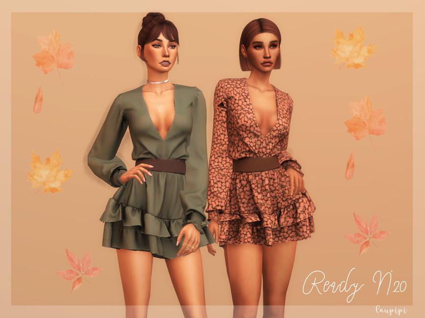 Платье Dress (Fall Collection) - DR365 Симс 4
