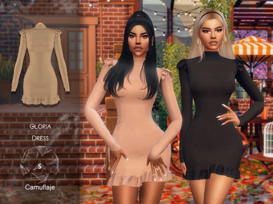 Платье Gloria (Dress) Симс 4