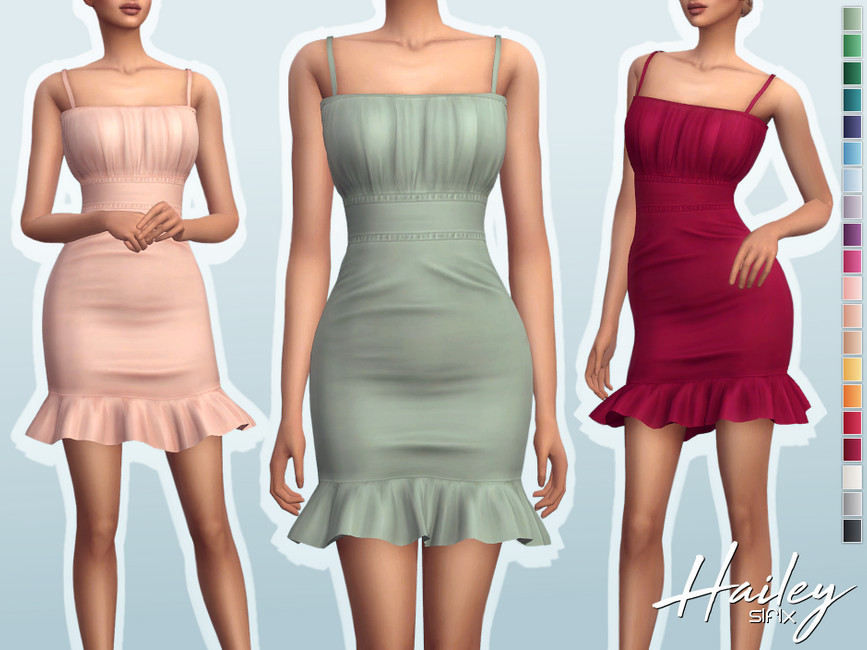 Платье Hailey Dress Симс 4