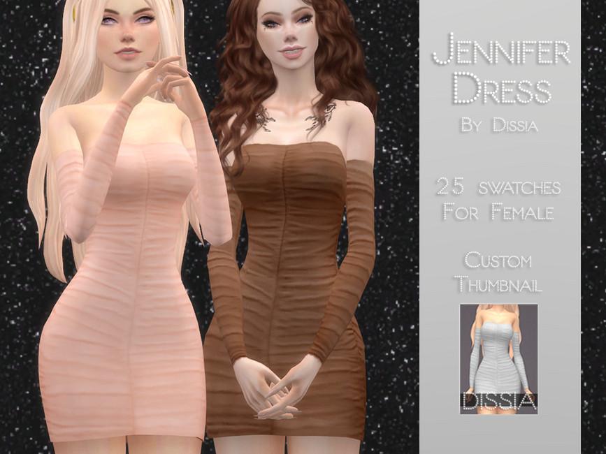 Платье Jennifer Dress Симс 4