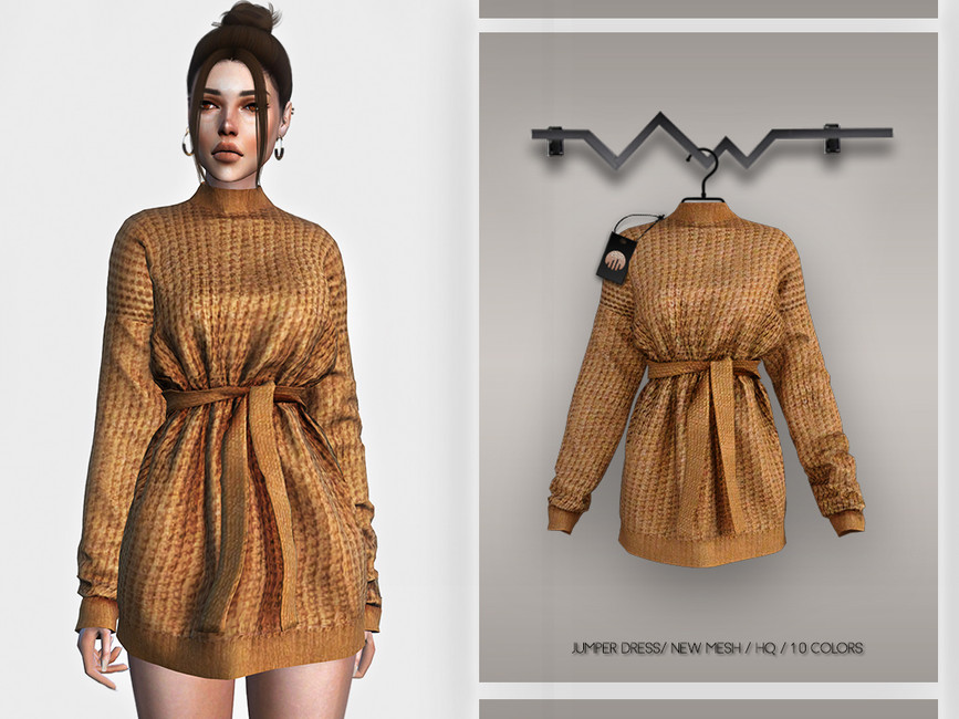 Платье Jumper Dress BD359 Симс 4