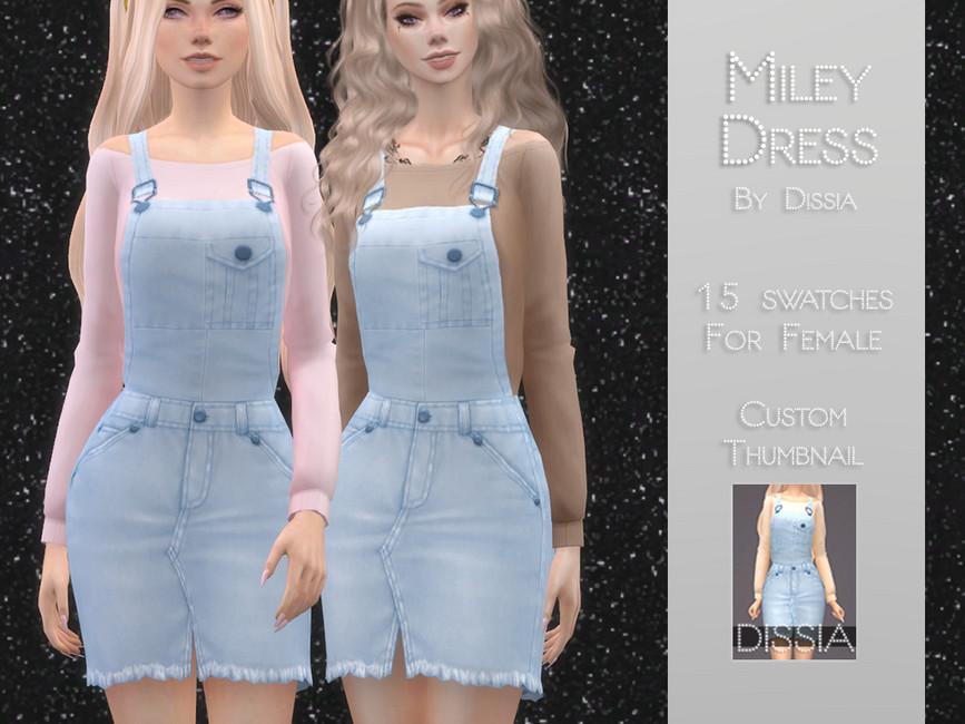 Платье Miley Dress Симс 4