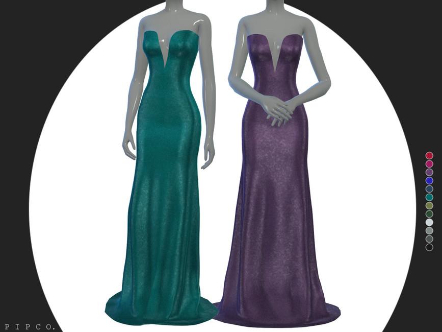 Платье Diamond Gown Симс 4