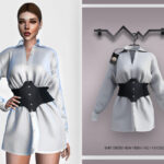 Платье Shirt Dress BD360 Симс 4