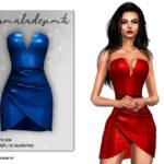Платье Strapless Mini Dress MC103 Симс 4