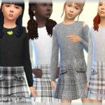 Платья для детей для Симс 4
