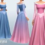 Платья принцесс Диснея Симс 4