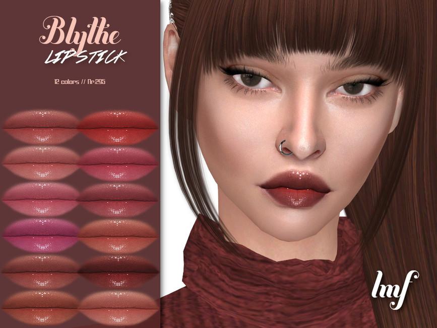 Помада Blythe Lipstick N295 для Симс 4