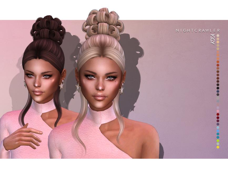 Прическа Iggy (HAIR) для Симс 4
