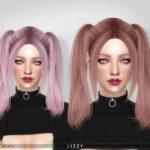 Прическа Lizzy (Hair 135) Симс 4