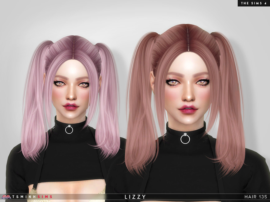 Прическа Lizzy (Hair 135) Симс 4