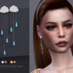 Серьги Raindrops Earrings для Симс 4