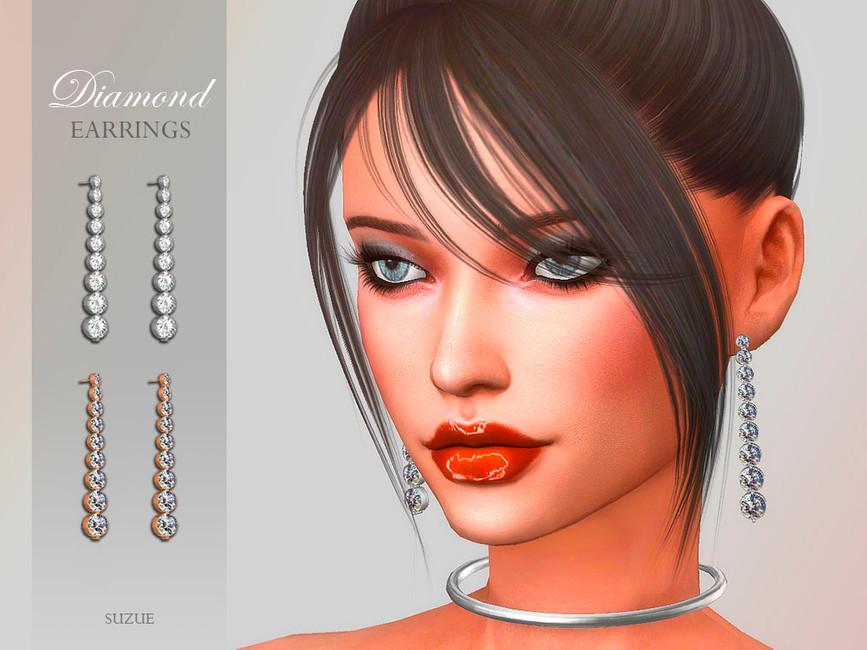 Сережки Diamond Earrings Симс 4