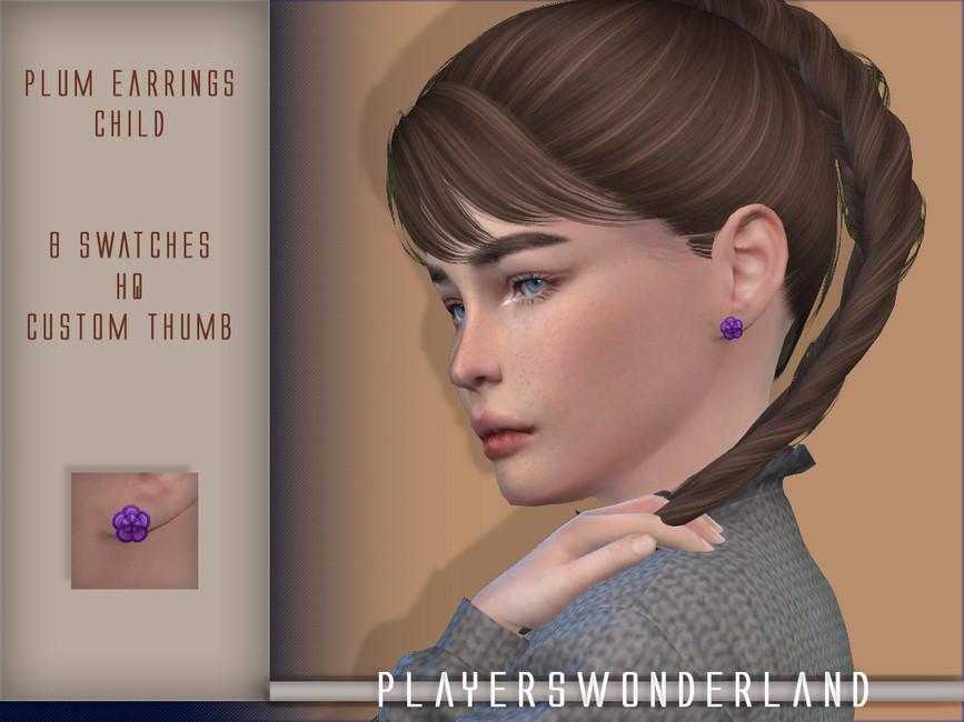 Сережки для детей Симс 4