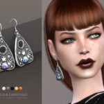 Сережки Ouija earrings Симс 4