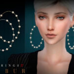 Серьги Bobur Earrings 27 Симс 4