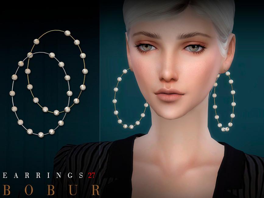 Серьги Bobur Earrings 27 Симс 4