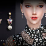 Серьги Bobur Earrings 28 Симс 4
