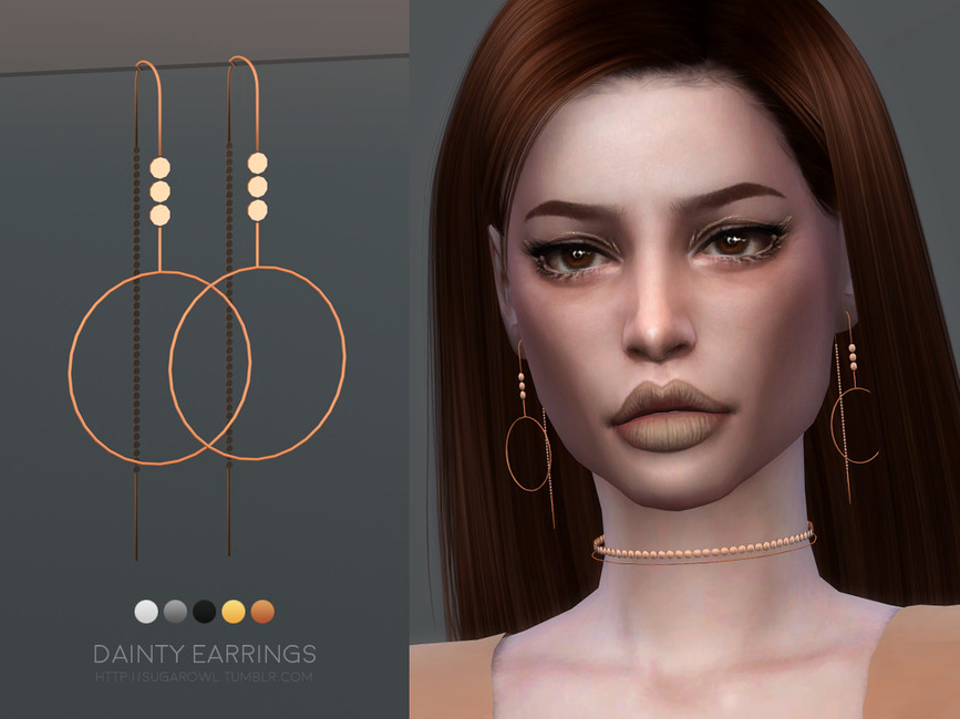 Серьги Dainty Earrings для Симс 4