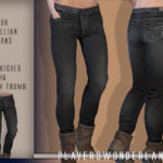 Скачать джинсы для девушек Симс 4