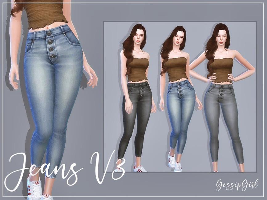 Скачать моды джинсы для Симс 4