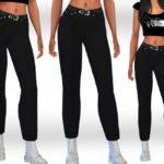 Скачать женские джинсы для Симс 4