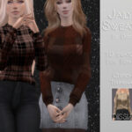 Свитер Jailyn Sweater Симс 4