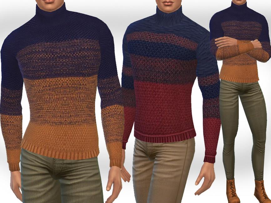 Свитер Male Sims Pullovers Симс 4