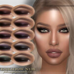 Тени FRS Eyeshadow N136 для Симс 4