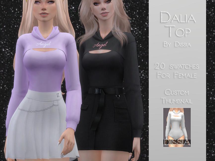 Топ Dalia Top для Симс 4